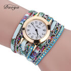 Luxury Women Watch Bracelet Crystal Leather Dress Analog Quartz Wrist Watch Gift image