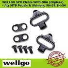Wellgo WPD-98A SPD Shoe Adapter Cleat Set Clipless for MTB Pedal+Shimano SH51&56