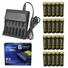 6000 8 - 8X Garberiel 18650 Battery 6000mAh Li-ion 3.7V Rechargeable Batteries + Charger