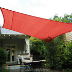Red Custom 5-12FT Rectangle Waterproof Sun Shade Sail Garden Pool Patio Cover
