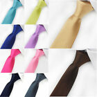 Stylish Mens Business Silk Tie Solid Plain Wedding Party Necktie Classic Tie