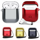 Silicone Case For Apple AirPods Portable ShockProof Cover + dustproof plugs Hook