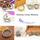 Heart Round Crystal Floating for Charms Memory living Locket Necklace Pendant