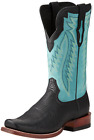 Ariat Men's Relentless Prime Bullhide Cowboy Boot - Black/Light Aqua