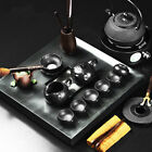 luxury ebony wood tea tray iron kettle real yixing zisha tea set porcelain pots