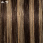 Any Color One Piece Clip In Remy Human Hair Extensions 100% Glossy 3/4 Full Head