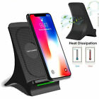 QI Fast Wireless For Samsung Galaxy S6edge Phone Stand Cooling Fan Smart Charger