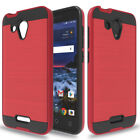 Heavy Duty Shockproof Brush Armor Rubber Phone Case Cover For Alcatel IdealXCITE