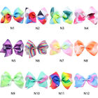 12cm Big Colorful Girl Bowknot Hairpins with Diamond Jojo Bow Hair Clip Pins