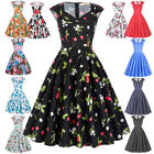 Cheap! Pinup Vintage Party 50s 60s Prom Housewife Belt Retro Swing Evening Dress