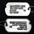 Custom Debossed Pure Silver Dog Tags Sterling Milidary ID Tag for Veterans, WWII