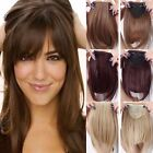 big bang theory fails - Fast Shipping Long Side Bang Clip in on Fringe Hair Extensions Front Neat Bangs