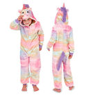 Loungeable Kids 3D Rainbow Unicorn All In One New Girls Luxury Soft Sleepsuit