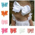 Large 14CM Grosgrain Ribbon Hair Bows Clip Flower Baby/Girl Accessories