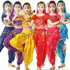Girl Belly Dance Costume Set Suit Children Indian Performance Kids Bollywood 16