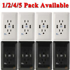 LOT Dual USB Port Wall Socket Charger AC Power Receptacle Outlet Plate Panel USA