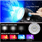 Photography White+Red 7x XM-L2 LED Diving Scuba Flashlight Torch Underwater 100M