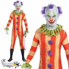 Teen Boy Killer Clown Party Suit Halloween Second Skin Fancy Dress Horror Outfit