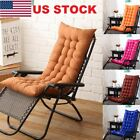 US Stock Deck Chair Cushion Comfy Patio Backyard Garden Seat Pad Tufted Mattress