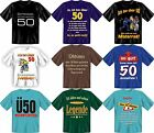 Fun Collection T-Shirt 50 Years Fifty 50th Birthday Shirts Choice with print