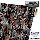 URBAN ORANGE Digital Camouflage Vinyl Car Wrap Camo Film Decal Sheet Roll