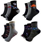 12 Pair Kids Socks Young Children Stockings 90% Cotton Multicolour Size 27-39 A.