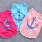 Small Pet Dog Clothes Costume Anchor Puppy Teddy Cat T-Shirt Summer Apparel Vest