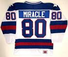 "MIRACLE 80 TEAM USA HOCKEY WHITE JERSEY 1980 GOLD MEDAL ""MIRACLE ON ICE"" NEW"