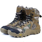 Men Outdoor Hunting Hiking Waterproof Camouflage Boots Military Tactical Shoes