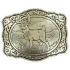 Crumrine White Tail Buck with Western Scroll Rectangle Belt Buckle