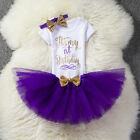 Baby Girls Toddler Kids Birthday Princess Romper Skirt Party Tulle Dress Outfits