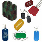Personalised Army Dog Tag Name Necklace, Custom Engraved Red Blue Camo Gift, UK