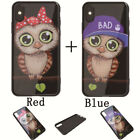 New Fashion Owls Mirrow Painted Phone Case For iphone 6s 7 8 Plus X Couples Case