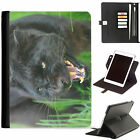 Black Panther Luxury Apple ipad 360 swivel leather case cover with card slots
