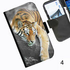 Tiger relax Leather wallet phone case for iPhone Samsung Sony Huawei Blackberry