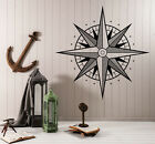 Wall Vinyl Decal Compass Earth Water Side of World Wind Rose (n985)