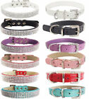 Bling Luxury Crystal Rhinestone Crocodile Leather Collar for Dog Puppy Pet