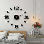 modern art diy wall clock 3d self adhesive-sticker design home office room QW