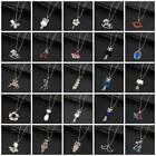 Women Various Crystal Rhinestone Pearl Pendant Sweater Chain Necklace Jewelry