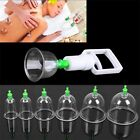 Effective Healthy 6/12 Cups Medical Vacuum Cupping Suction Therapy Device Set QE