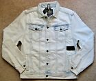BUFFALO David Bitton Joe Trucker Denim Jacket. L. NWT.$119.Super Bleach Blue