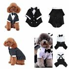 Puppy Dog Pet Clothes Tuxedo Shirt Suit Bow Tie Stylish Wedding Party Apparel