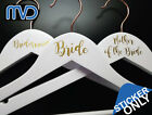 Personalised Vinyl Wedding Coat Hanger Decal Stickers name role bridal party