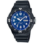 Casio MRW200H Men's black Rubber Strap Day Date 100M Analog Sports Watch