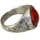 INTACT LATE MEDIEVAL NEAR EASTERN BILLON DECORATED SILVERED RING