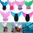 New Kids Mermaid Mono Fin Swimmable Tail Flippers Swimming Costume Water Sports