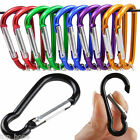 Внешний вид - 10Pcs Camping Outdoor Aluminum Alloy D Screw Lock Carabiner Clip Hook KeyChain