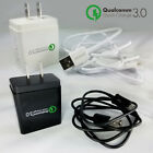 Quick Charge 3.0 Fast Wall Charger Micro USB Cable For HTC D