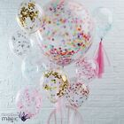 "Ginger Ray 12"" 36"" Confetti Multicoloured Wedding Party Latex Helium Balloons"