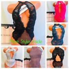 NWT Victoria's Secret Sexy Teddy Bodysuit Lingerie Lace High Neck ~ MANY SIZES